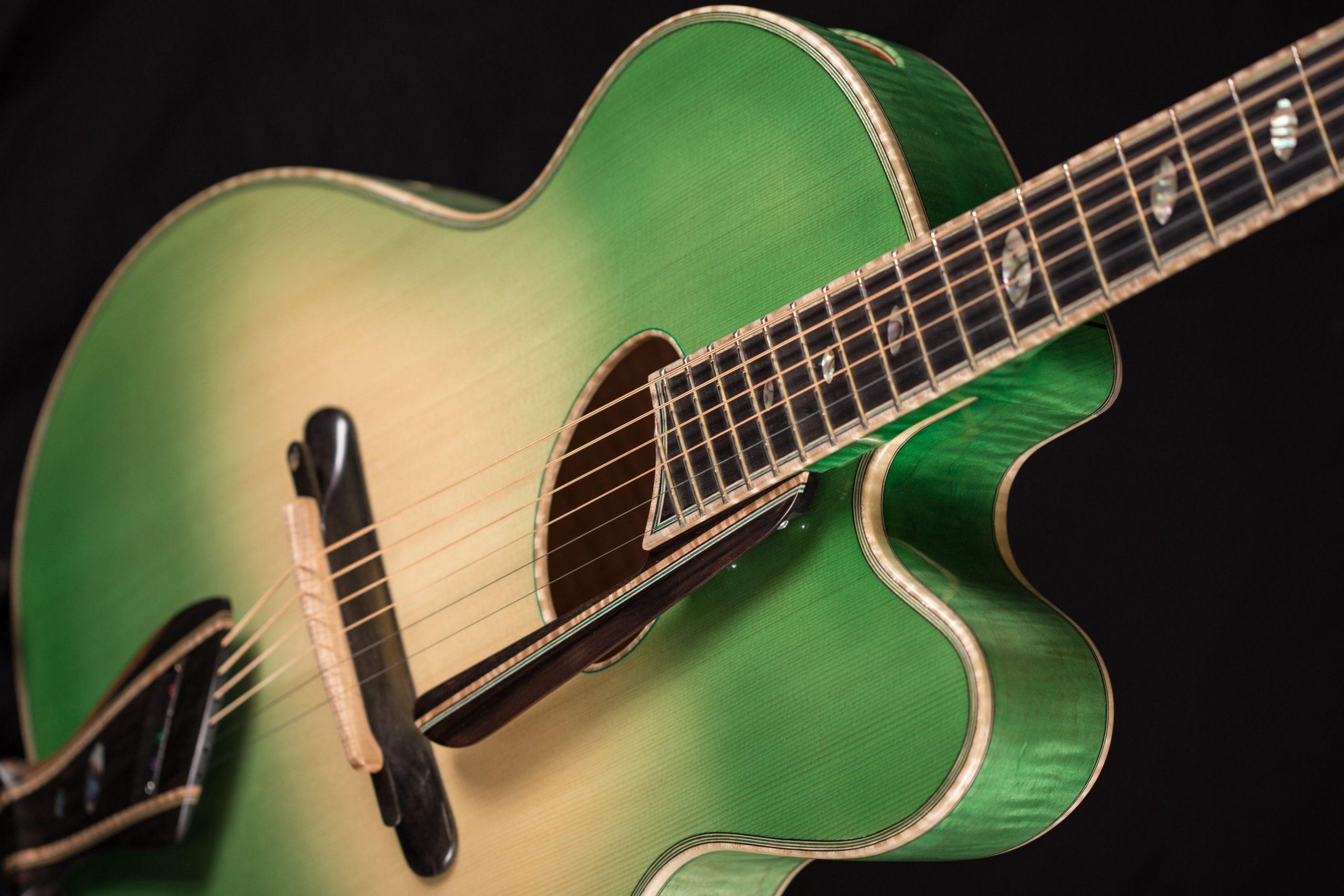 mirabella guitars oval hole sativa guitar