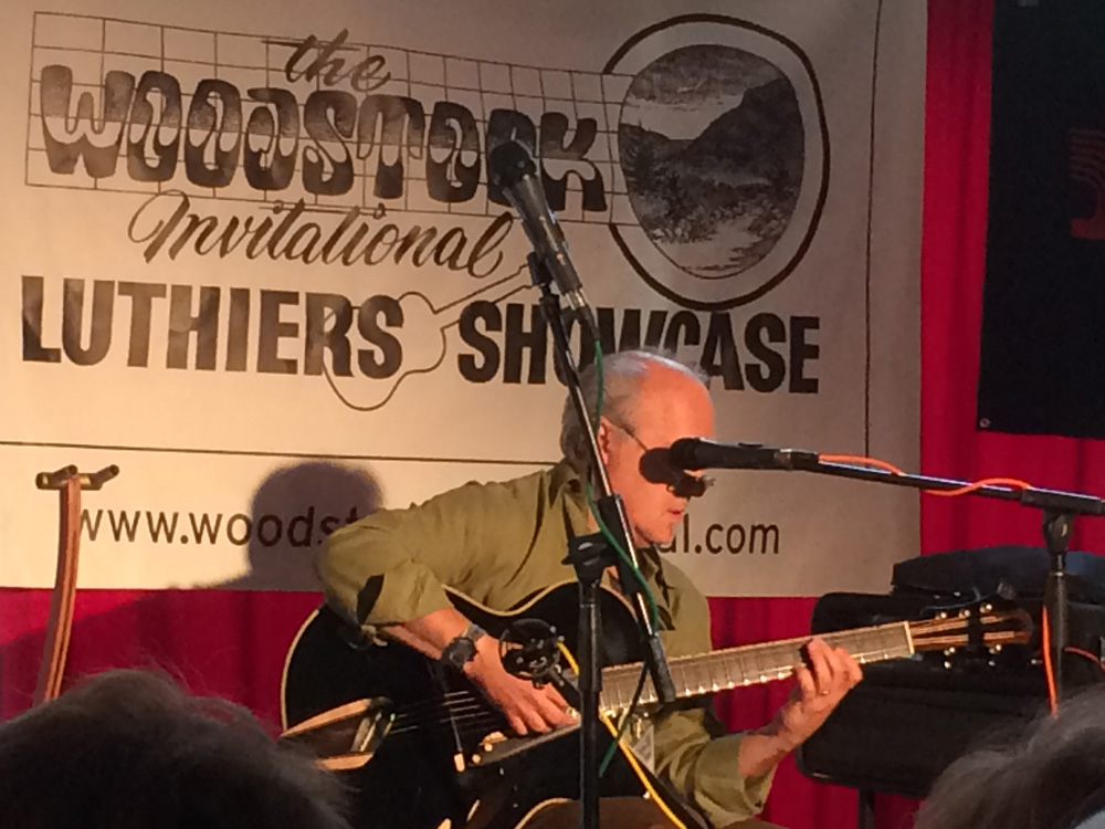 Paul Asbell playing his Mirabella guitar at Woodstock guitar festival